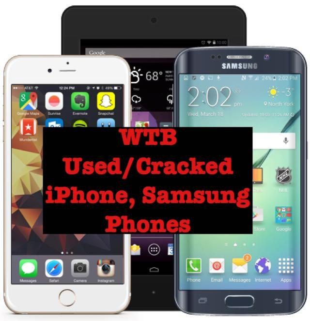 WTB BUYING BACK ALL iPhone Phone, Cracked Screen, Used iPhones, BUY BACK iPhone X iPhone 6 iPhone 6S LCD Screen Battery iPhone 7 iPhone 7 Plus iPhone 8 iPhone 8 Plus iPhone X iPhone XS iPhone XR Crack Screen LCD BuyBack
