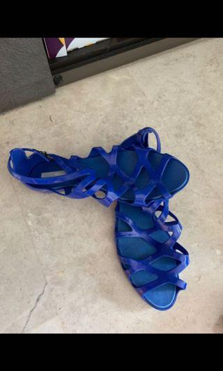 Melissa Blue Sandals Jelly Us Size 8