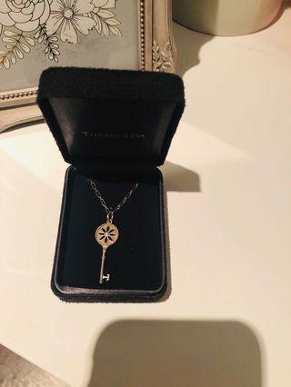 """Tiffany Daisy Diamond Key with a 19"""" oval link Tiffany chain. Not Negotiable!"""