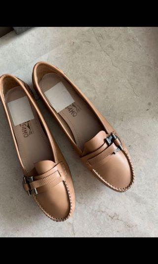 Brand New Branded Brown Ferragamo Slip Ons