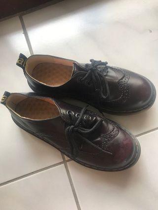酒紅色牛津鞋