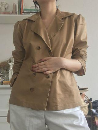 Brown double breasted shirt blouse