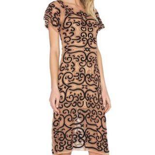 For Love and Lemons Brown Black  Dress