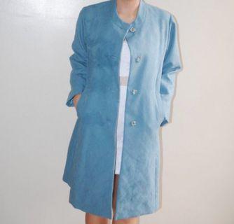 Textured Blue Coat
