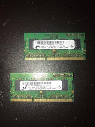 美光記憶體(筆電) 2GB PC3-8500s