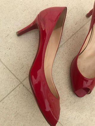 Red open toe authentic Christian Louboutin
