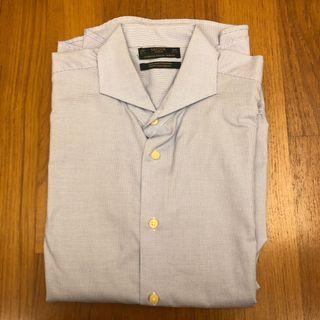 Sacoor Brothers Men's Shirt (Size 44) - Blue