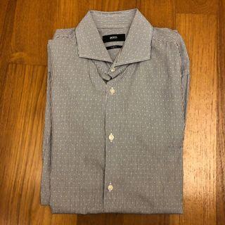 Hugo Boss Men's Shirt (Size 39) - Grey Lines