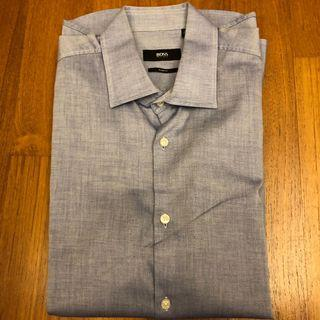 Hugo Boss Men's Shirt (Size 39) - Bluish Grey