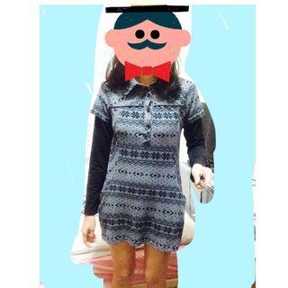 黑灰兩件式冬天上衣  #我的女裝可超取