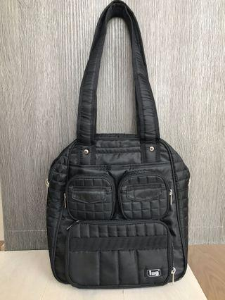Lug black shoulder bag
