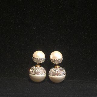 韓風珍珠耳環3對