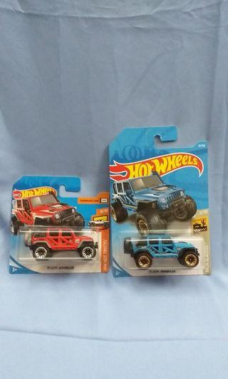 Jeep Wrangler 4x4 Trucks Hotwheels Hot Wheels