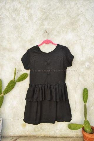 Black Peplum dress by Gaudi