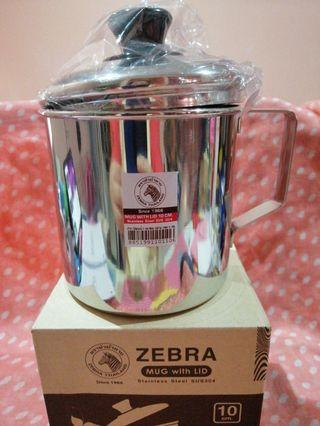 Zebra Stainless Steel Mug with Lid ( 10cm / 750ml )
