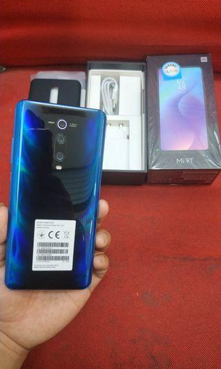 Xiaomi Mi 9T Ram 6gb/128gb blue global pemakaian 2 minggu