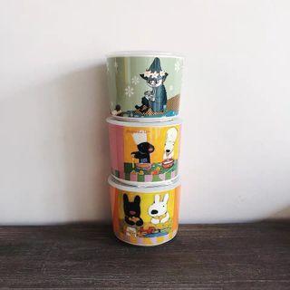 [2019✨出口日本外貿單 嚕嚕米保鮮盒 優雅圓陶瓷密封蓋/莎莉與卡士柏婚禮小物/辦公室用碗/Moomin便當飯盒]