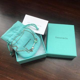 Tiffany & Co Heart Authentic Key Pendant Necklace