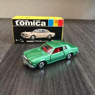 Tomica Tomytec Tomy 日製 38 Mazda Coswo L Limited 日產 豐田 Honda Civic mr2 Type r 萬事得 Ferrari made in Japan Suzuki Hino 青箱 黑盒 no. 38 no.38 truck 拖車 JAF