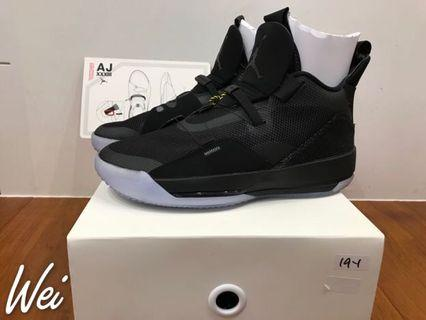 [商品]: 全新AIR JORDAN XXXIII PF TECH PACK 黑色 33代 男鞋 US10