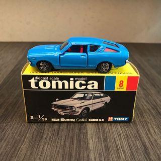 Tomy Tomica tomytec 日本製 日製 Nissan Sunny Excellent 1400 GX 日產 Honda Toyota GTR GTO 1400GX 8號 no. 8 no.8 黑箱 青箱 Ferrari truck Suzuki