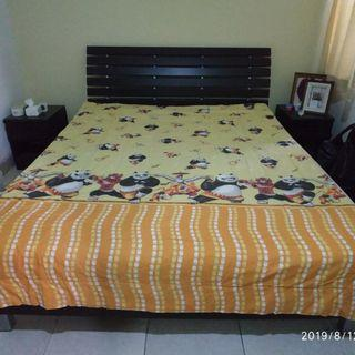 Bed Cover Single Kungfu Panda