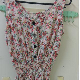 無袖花色褲裙 (有口袋)