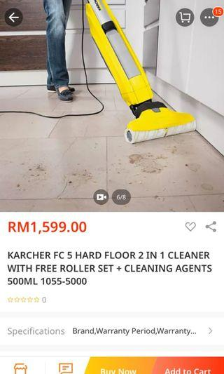 KARCHER vacum FC 5 with extra roller