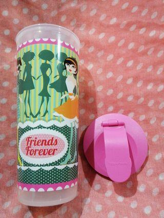 """Stylish Tupperware """"Forever Friends"""" Tumbler with Sipper Seal 470 ml / 16 oz"""