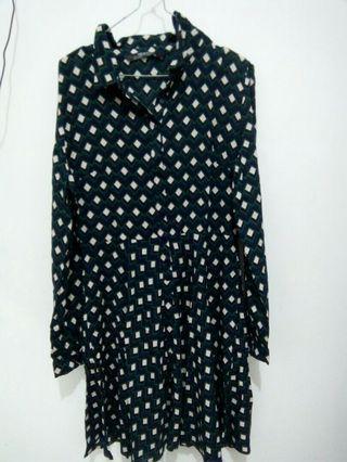 Zara Pattern Midi Dress