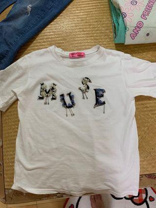 韓製白色T恤