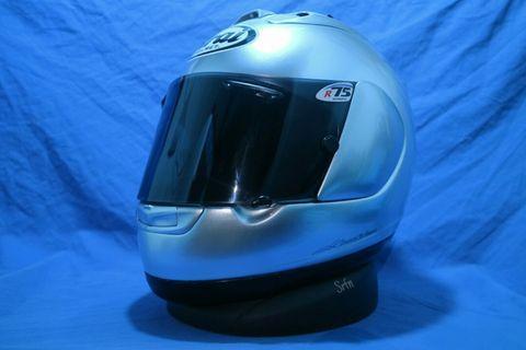 Helm arai RX-7 RR4 silver glossy not shoei agv nolan xlite kbc nhk kyt