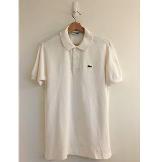 【二手古著】YU SELECT-優選日本製 LACOSTE 4號 白色短袖POLO衫