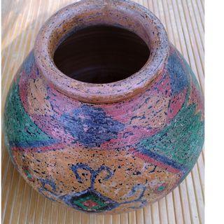 手拉胚上色陶壺 陶罐 原住民風格