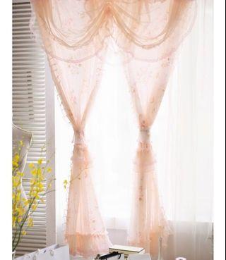 浪漫法式蕾絲 門簾窗簾(長版)