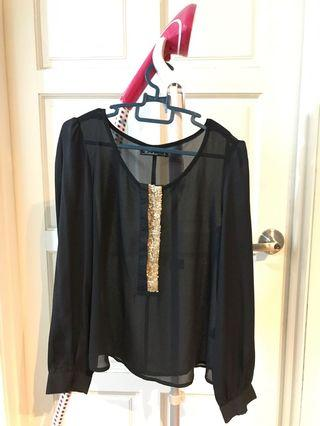 Kitschens black blouse