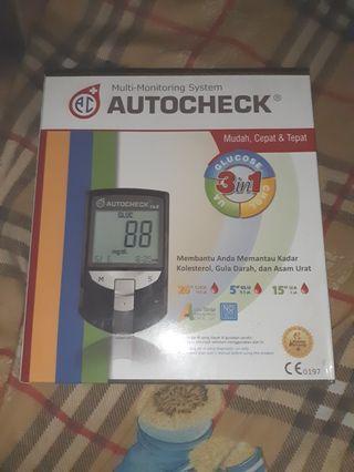Autocheck 3 in 1 Cek Gluco Kolestrol Asam Urat