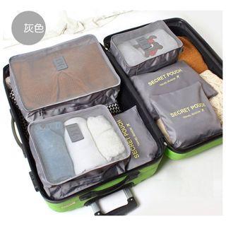💕現貨&💕旅行收納袋六件組 行李箱收納袋 旅行收納包六件組 衣物分裝袋 收納袋 旅行收納袋 防水旅行收納包 行李分裝袋