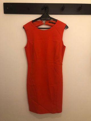 Zara Mini Backless Orange Dress