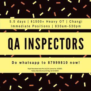 QA Operators ($1500++, Changi, Air Con, Start Immediately)