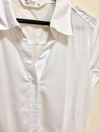 全新/面試必備/白色短袖襯衫