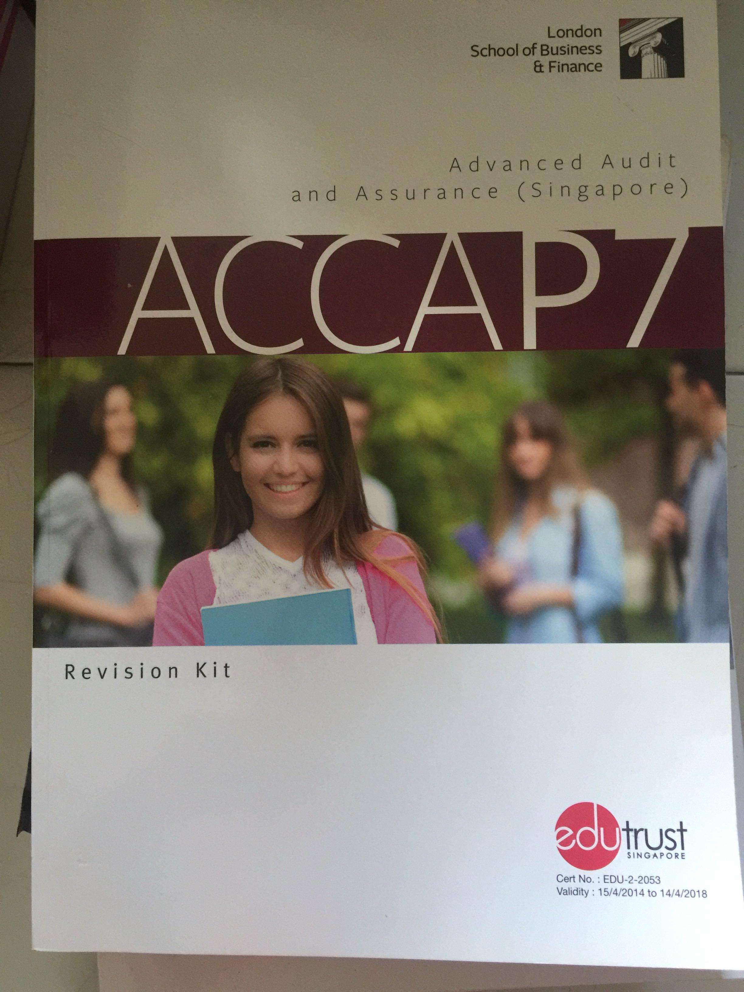 Acca P7 advances audit revision kit