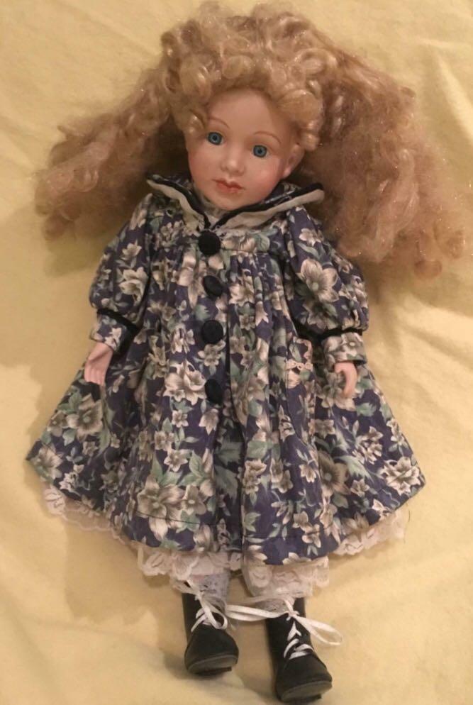 Antique Cyclops Baby Pram & Collectible Porcelain Doll
