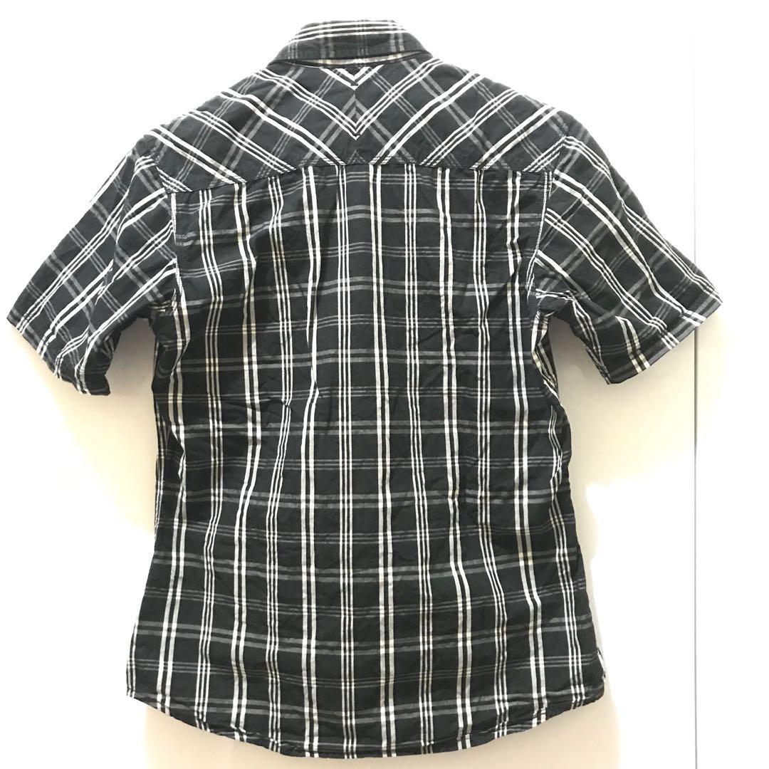 Baju Kemeja Berkerah cowok laki-laki Pria kotak-kotak