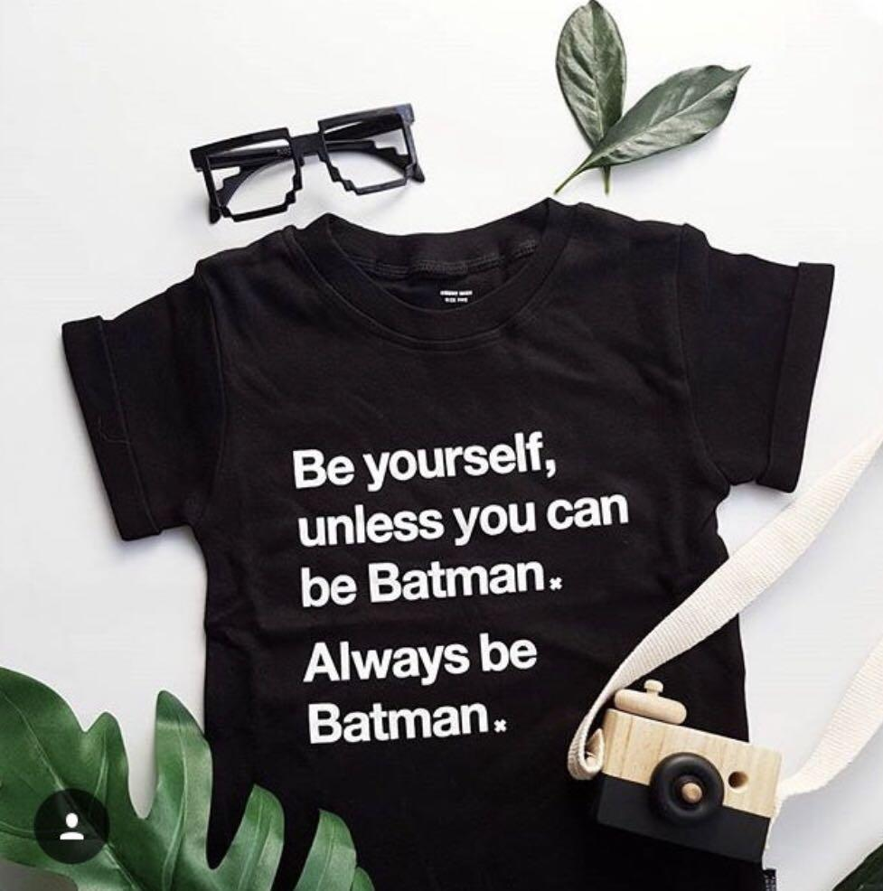 BNWT Meeny Miny 100% Organic Cotton Always Be Batman Tee