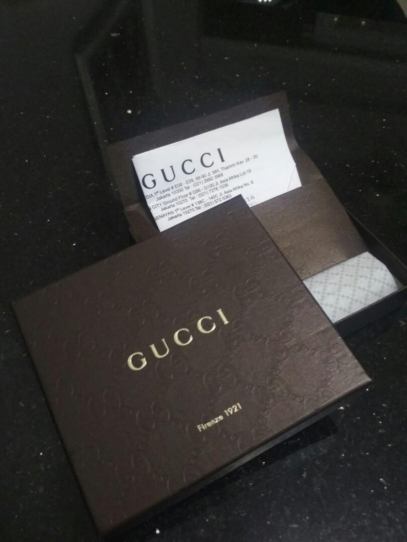 Box gucci authentic dompet pria