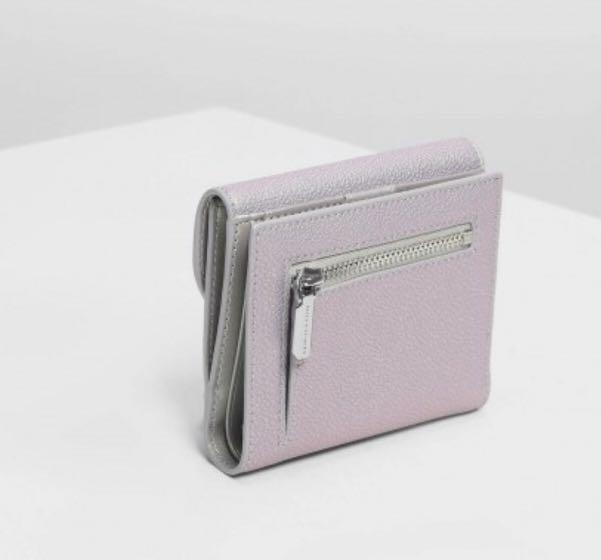 BRAND NEW AUTHENTIC Charles and Keith Short wallet purse peacock colour