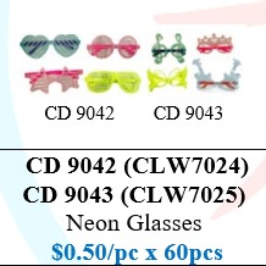 Children's Day Special - Neon Colour Glasses ($30/60pcs bundle) HSEN