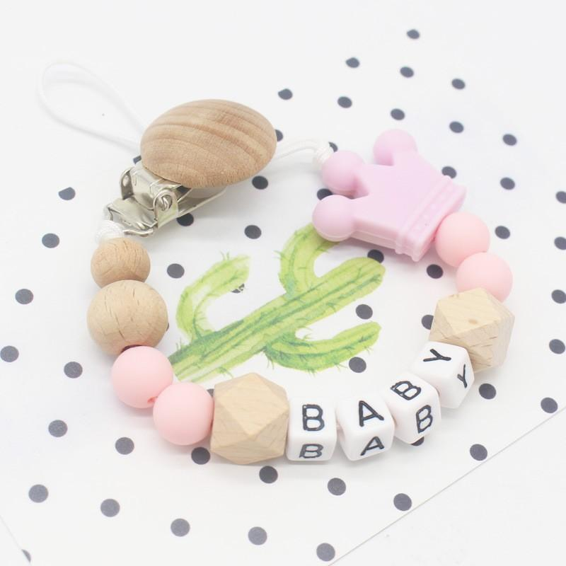 Customize baby pacifier clip (crown)