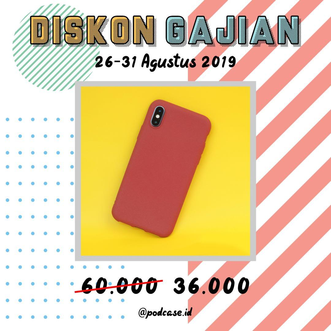 [DISKON GAJIAN 40% FOR: Iphone X/XS Red and XS Max Blue]